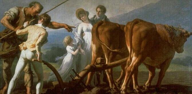 François André Vincent L'Agriculture, nommé La Leçon de labourage / Institutnationaldhistoiredelart